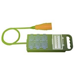 Rozvodna Penál 32A 5P (IN) na 6x schuko zásuvka (OUT) s pojistkami