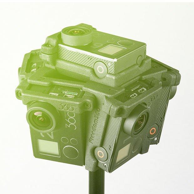 Freedom F360 Broadcaster 360° x 180° Mount + 6x GoPro HERO4 Black
