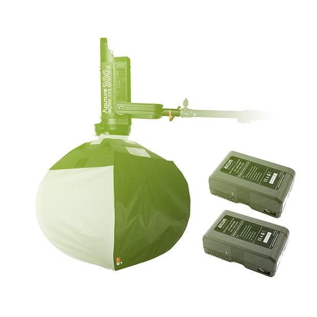 Aputure c120d II + Chimera Lantern + 2x vmount 230Wh