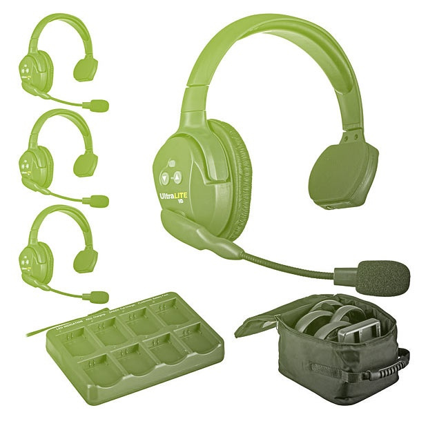 Eartec UltraLITE HD 4-Person Headset System + HUB