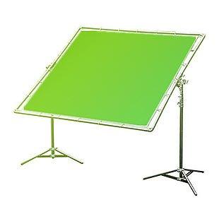 12x12' Greenscreen + rám a stativy (3,6x3,6m)
