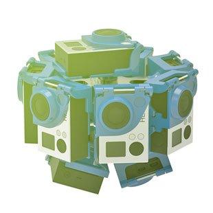 360Heroes gopro rig PRO10HD v2 set včetně 10x Gopro4 Black (Highest resolution 360 video - 12000x6000px)