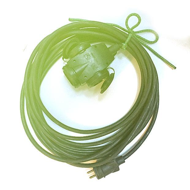 Elektrický prodlužovací kabel 7,5m 250V/16A Trojzásuvka