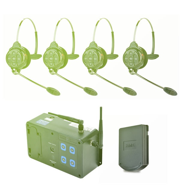 Clear-com Wireless Intercom set 4x headset