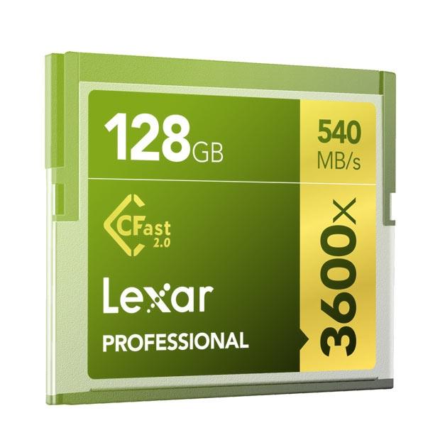 Lexar 128GB Professional 3600x CFast 2.0