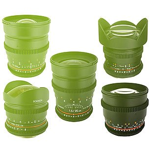 Samyang cine set set objektivů (14mm, 24mm, 35mm, 50mm, 85mm, 100mm) version EF (package)