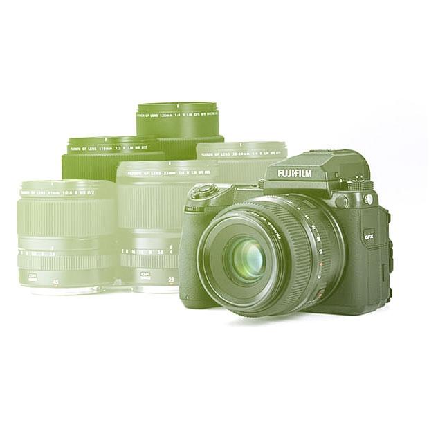 Středoformát Set Fuji GFX50s + objektiv 63mm & 120mm